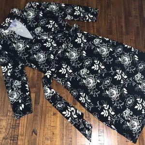 Women's nine&co collared midi dress with tie belt
